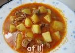 Etli Sulu Patates Yemeği Tarifi